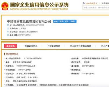 中国雄安建设投资集团正式成立